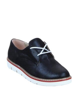 Markazen Simli Oxford Ayakkabı -Siyah