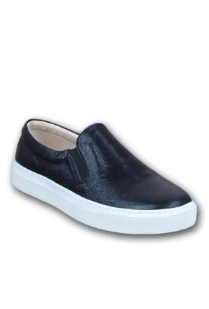 Markazen Detay Babet Ayakkabı - Siyah