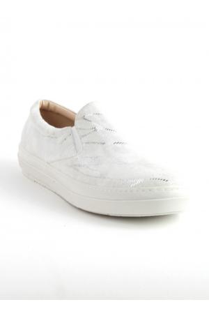 Markazen Simli Babet Ayakkabı - Beyaz