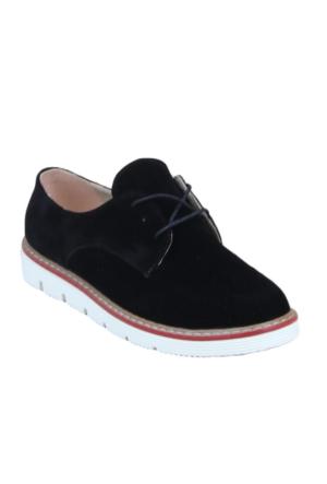 Markazen Süet Oxford Ayakkabı - Siyah