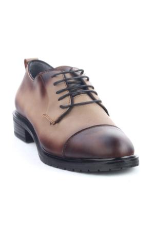 Markazen Oxford Ayakkabı - Vizon Yakma Siyah 01