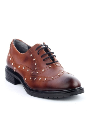 Markazen Trop Desenli Oxford Ayakkabı - Kahverengi
