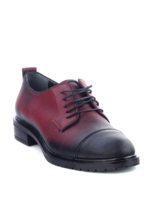 Markazen Oxford Desenli Ayakkabı - Bordo