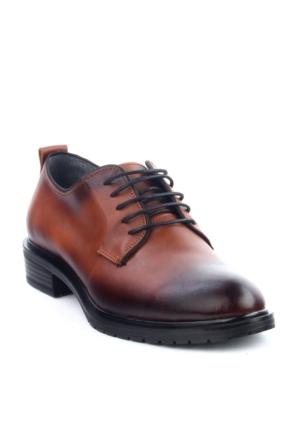 Markazen Oxford Ayakkabı - Taba Yakma Siyah