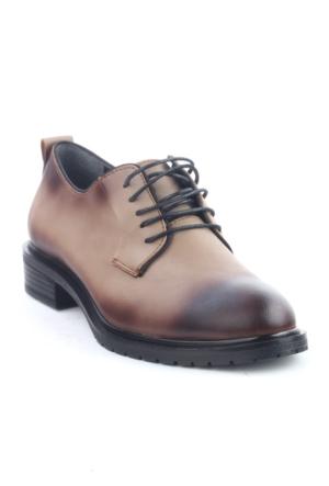 Markazen Oxford Ayakkabı - Vizon Yakma Siyah