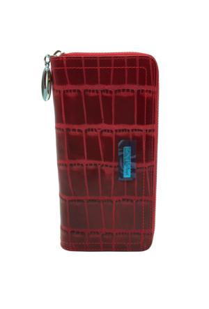Tony Bellucci T509-956 Kırmızı Gerçek Deri Bayan Cüzdanı