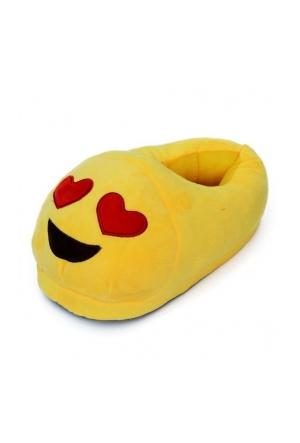 Ensa Peluş Emoji Panduf Kalp Göz