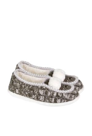 Tw Adel, Twıgy Sıcak Tutan Gri Ev Ayakkabıları,J0180 38