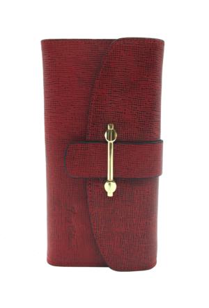 Tony Bellucci T519-964 Kırmızı Gerçek Deri Bayan Cüzdanı