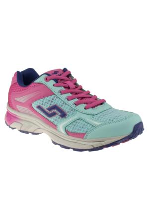 Jump 13814Z Bağcıklı Yeşil Kadın Spor Ayakkabı