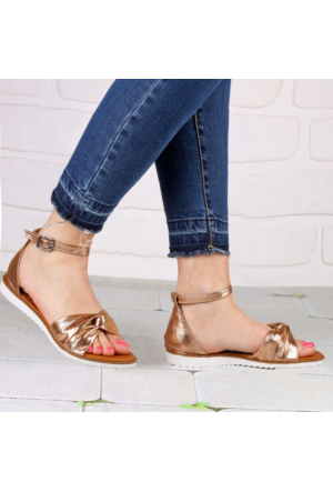 İnce Topuk Bakır Sandalet