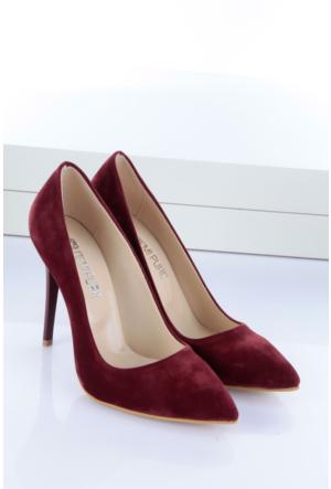 Shoes&Moda Kadın Stıletto Bordo