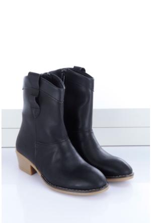 Shoes&Moda Kadın Bayan Bot Siyah