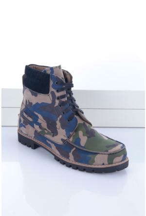 Shoes&Moda Erkek Hakiki Derı Bot Renkli