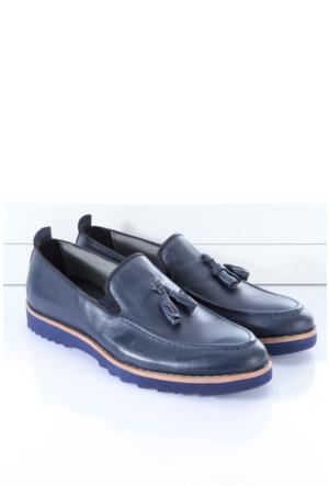 Shoes&Moda Erkek Hakiki Deri Ayakkabı Lacivert
