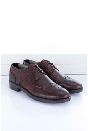 Shoes&Moda Erkek Hakiki Deri Ayakkabı Koyu Kahverengi