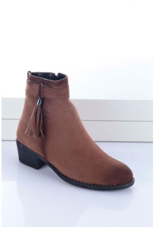 Shoes&Moda Kadın Bayan Bot Taba