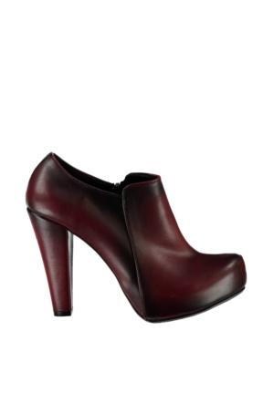 Pembe Potin Bordo Ayakkabı