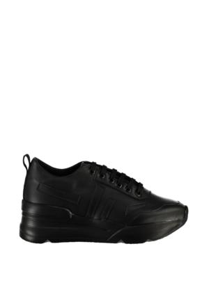 Pembe Potin Siyah Ayakkabı