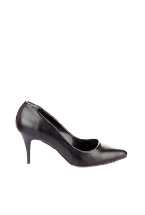 Pembe Potin William Siyah Ayakkabı