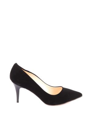 Pembe Potin William Siyah Nubuk Ayakkabı