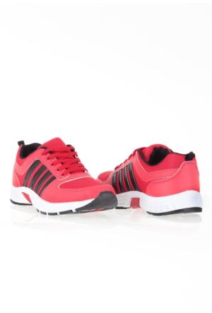 Erbilden Spr Kırmızı Siyah Fileli Erkek Spor Ayakkabı