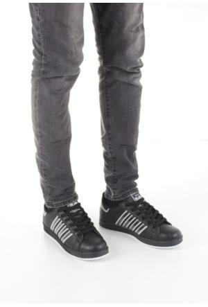 Erbilden Yaay Siyah Çizgili Desenli Erkek Spor Ayakkabı