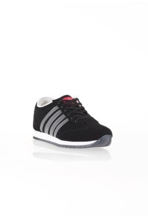 Erbilden Spr Siyah Gri Çizgili Bağcıklı Erkek Spor Ayakkabı