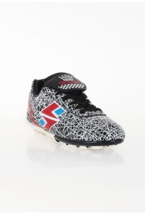 Erbilden Spr Siyah Beyaz Çizgi Desenli Erkek Halı Saha Ayakkabısı