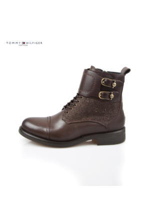 Tommy Hilfiger Fw56821472-212 B1285Ologna 1C Mid Boot Coffeebean Bot