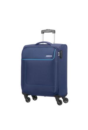 American Tourister Funshine-55 Cm Kabin Boy Dört Tekerlekli Valiz Mavi
