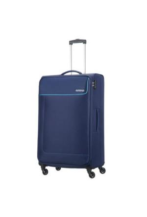 American Tourister Funshine-79 Cm Büyük Boy Dört Tekerlekli Valiz Mavi