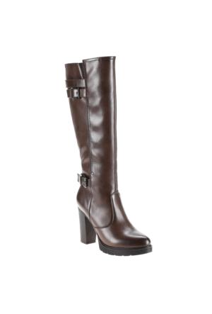 Polaris 52.308107.Z Kahverengi Kadın Çizme