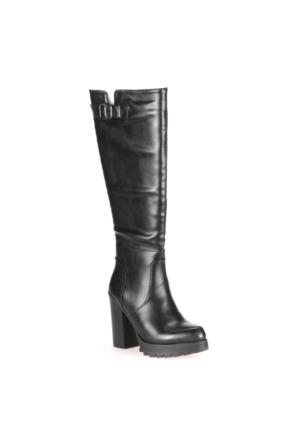 Polaris 52.308051.Z Siyah Kadın Çizme