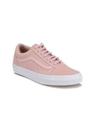 Vans Old Skool Pembe Beyaz Kadın Süet Deri Sneaker