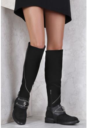 İlvi Skully 16316 Çizme Siyah