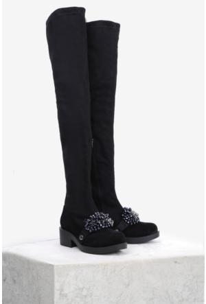 İlvi Tesiya 10781 Çizme Siyah
