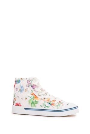 U.S. Polo Assn. Kadın Ayakkabı Y6Narw Flowers