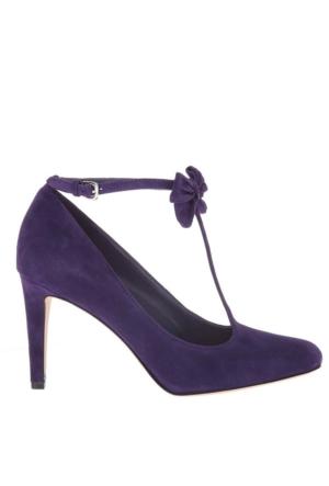 Nine West Nwhollıson Mor Gerçek Süet Kadın Ayakkabı
