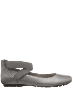 Anne Klein Akıtcanbe Gümüş Gerçek Deri Kadın Ayakkabı