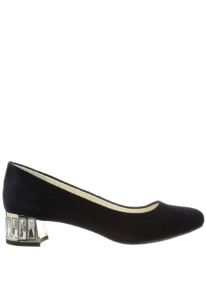 Anne Klein Akhaedyn2 Siyah Kadife Kadın Ayakkabı