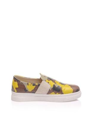 Los Ojo Camo Yellow Camoz 0252 Kadın Ayakkabı