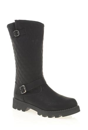 Derigo Kadın Postal Çizme Siyah 305034