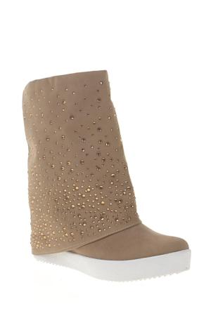 Derigo Kadın Çizme Vizon 3918108