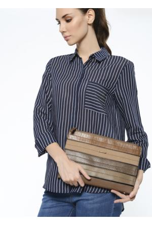 David Jones Kadın Clutch Çanta Kahverengi