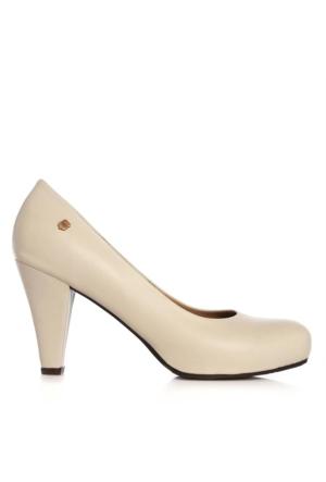 UK Polo Club 64704 Kadın Topuklu Ayakkabı Bej
