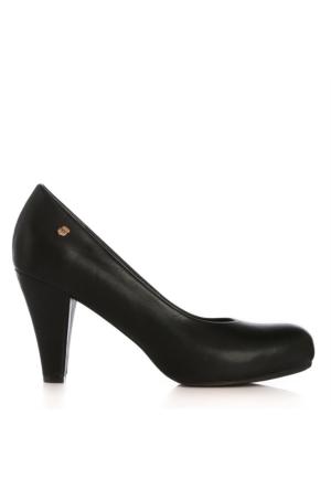 UK Polo Club 64704 Kadın Topuklu Ayakkabı Siyah
