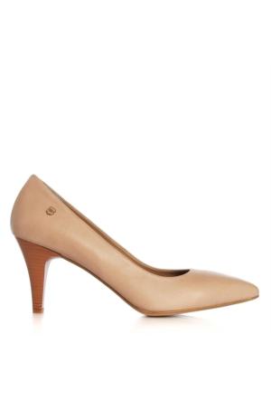 UK Polo Club 64703 Kadın Topuklu Ayakkabı Pudra