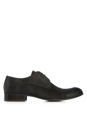 UK Polo Club 74606 Erkek Klasik Ayakkabı Siyah Nubuk
