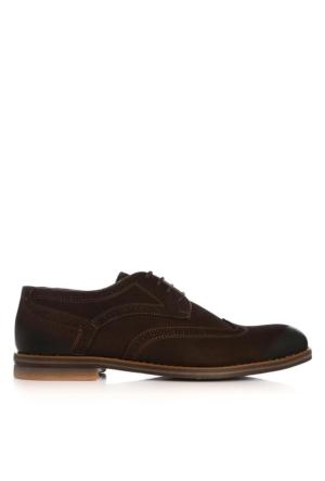 UK Polo Club 74304 Erkek Klasik Ayakkabı Kahve Nubuk